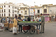 Merchant is selling avocados in Casablanca Morocco Stock Photography