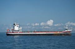 Merchant Ship at Anchor Stock Images