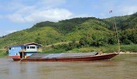 Merchant ship on Mekong River Stock Image