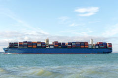 Merchant ship side view. Close view royalty free stock images