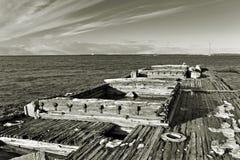 Merchant Ship wrack Stock Image