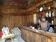 Merchant Wax figure. In Jingdezhen, China Royalty Free Stock Photos
