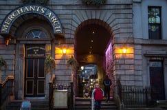 Merchants Arch in Dublin. Merchants Arch at Temple Bar in Dublin, Ireland royalty free stock photos