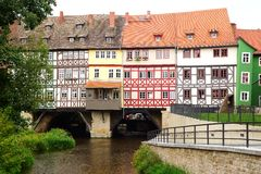 Merchants' Bridge. Erfurt Royalty Free Stock Photo