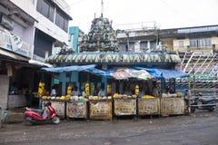 Merchants sell sacred flowers Stock Image