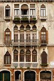 Merchat houses in Venice stock photography