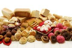 Merci al forno dolci e saporite Fotografia Stock