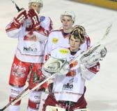 MERCI - allumette de hockey sur glace photographie stock libre de droits