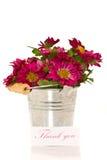 Merci avec des fleurs images stock