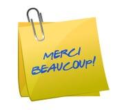 Merci Beaucoup! Липкое примечание бесплатная иллюстрация