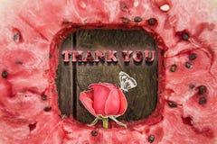 Merci carder Image stock