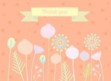 Merci carder des conceptions florales illustration libre de droits