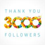 Merci carte de 3000 disciples Photo stock