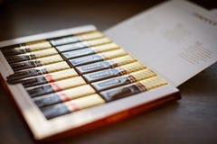 Merci choklad - märke av chokladgodisen som tillverkas av det tyska företaget August Storck som säljs i mer än 70 länder royaltyfria foton
