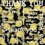 Merci concevoir avec la polka jaune et noire Dot Tile Pattern Re Photos libres de droits