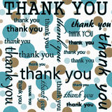 Merci concevoir avec Teal et la polka blanche Dot Tile Pattern Repe Image stock