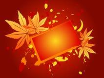 Merci d'automne donnant la carte Photos libres de droits