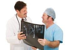 merci de radiologiste de docteur photographie stock