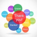 Merci des messages dans différentes langues illustration libre de droits
