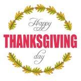 Merci donnant et feuilles de vert en cercle Image libre de droits