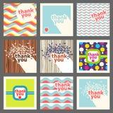Merci ensemble de calibre de design de carte Rétro type Images libres de droits