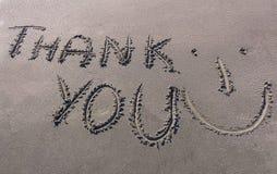 Merci exprimer dessiné sur la rive du Gange Image libre de droits