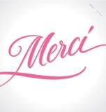 MERCI hand lettering (vector) royalty free illustration