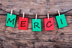Merci on a Line royalty free stock photography