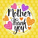 Merci maman, fête des mères heureuse, bannière de carte de voeux de vacances de ressort illustration stock