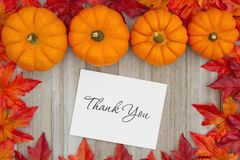 Merci message de l'automne image libre de droits
