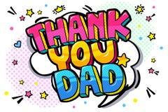 Merci message de papa dans la bulle saine de la parole illustration de vecteur