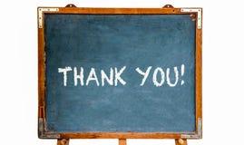 Merci ! message textuel dans les lettres blanches de craie écrites sur un tableau en bois ou un tableau noir de vieux vintage sal illustration de vecteur