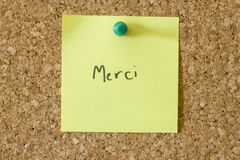 Merci Note Royalty Free Stock Photos