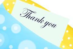 Merci noter ou marquer avec des lettres Photographie stock