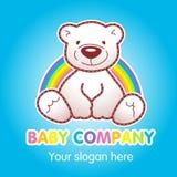 Merci per il logo di vettore del deposito della cima dei bambini illustrazione di stock