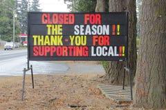 Merci pour soutenir le signe local image stock