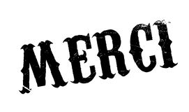 Merci rubber stamp Stock Image