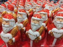 Merci-Schokoladen-Weihnachtszahlen stockbilder