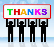 Merci signifie beaucoup de mercis et reconnaissant Image libre de droits