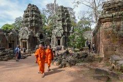 Merci temple de Prohm au complexe d'Angkor Vat, Siem Reap, Cambodge Photos libres de droits