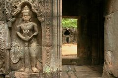 Merci temple de som dans Angkor antique au Cambodge Photo stock