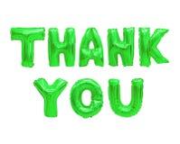 Merci vert images stock