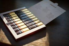 Mercichocolade - merk van chocoladesuikergoed door het Duitse die bedrijf August Storck wordt, in meer dan 70 landen wordt verkoc royalty-vrije stock fotografie