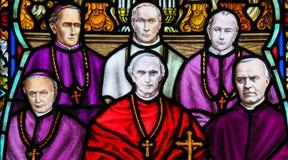 Mercier cardinal - vitral na catedral de Mechelen fotografia de stock royalty free