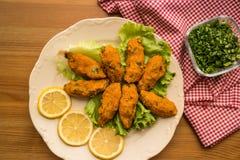 Mercimek Koftesi/τουρκικά τρόφιμα με Bulgur και τη φακή Στοκ εικόνες με δικαίωμα ελεύθερης χρήσης