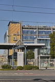 Merck Factory. Darmstadt, Germany - September 27, 2015: South gate of Merck KGaA chemical factory Royalty Free Stock Photography