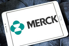 Merck pharmaceutical company logo Royalty Free Stock Image