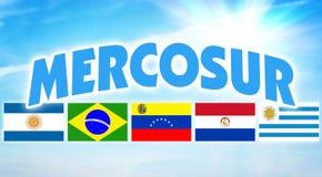 MERCOSUR Alleanza politica di alcuni paesi del Sudamerica fotografie stock libere da diritti