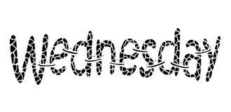 Mercredi Lettrage abstrait pour la carte, invitation, T-shirt, affiche, bannière, plaquette, journal intime, album, couverture de illustration de vecteur