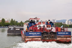 Mercur 201 ładunku łodzi zbliżenie Obrazy Royalty Free